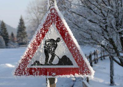 Achtung Schneeschaufler